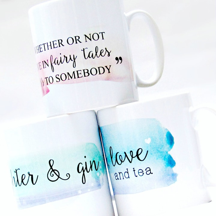 Customised mugs with fun text