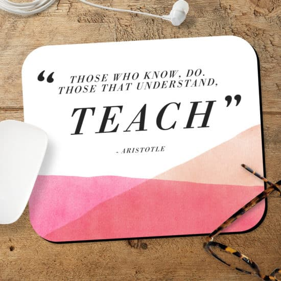 Create a personalised thank you mousemat for Teacher