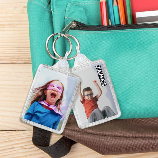 Personalise their school bags with a custom keyring - bag tag