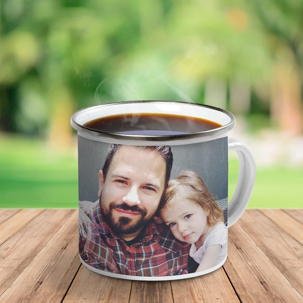 Create a unique photo camping mug