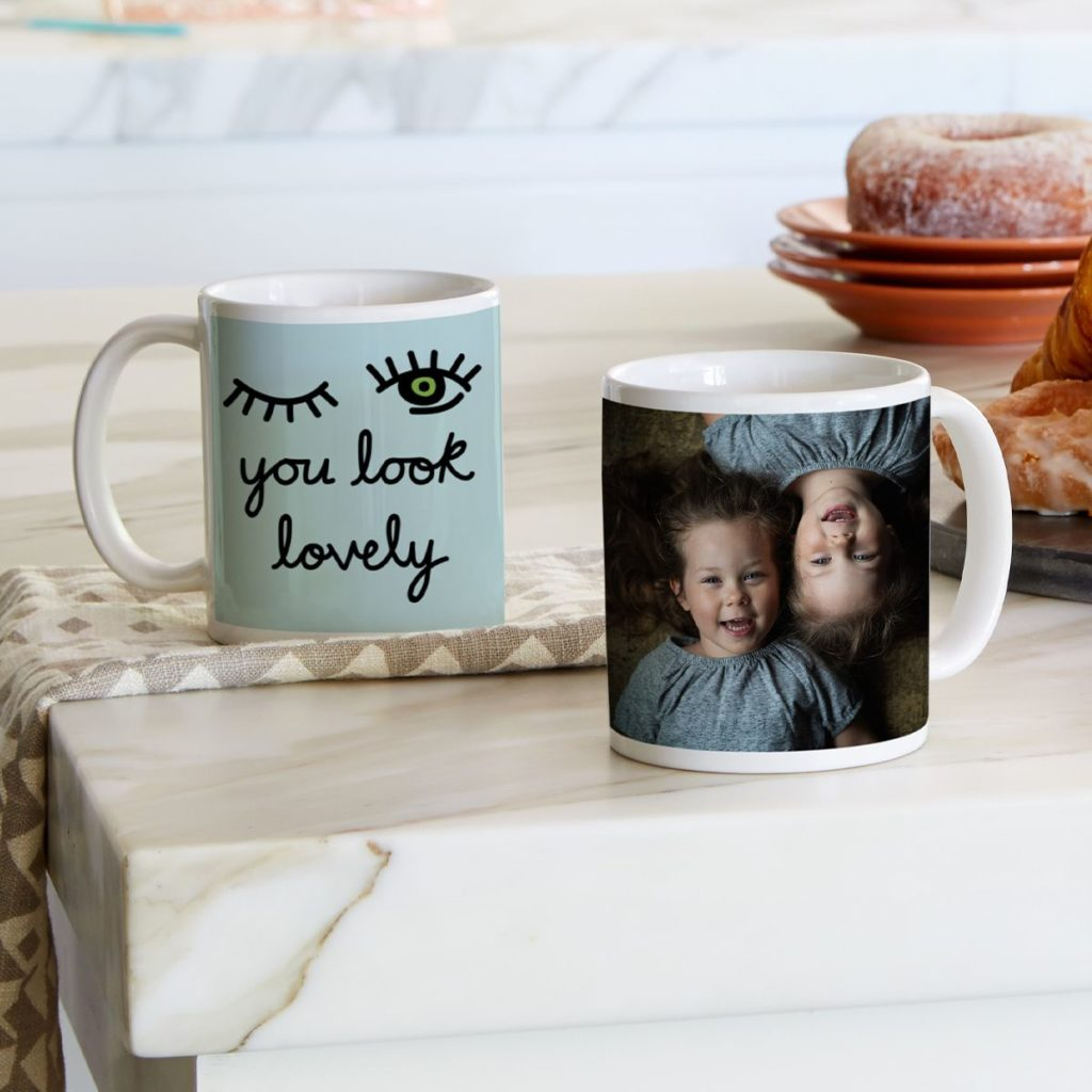Photo and non photo mugs available