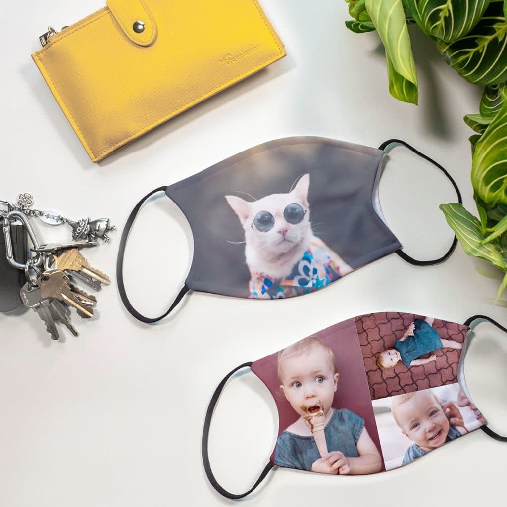 Carry your treasured memories with you. Custom face masks with happy memories make life outdoors less scary.