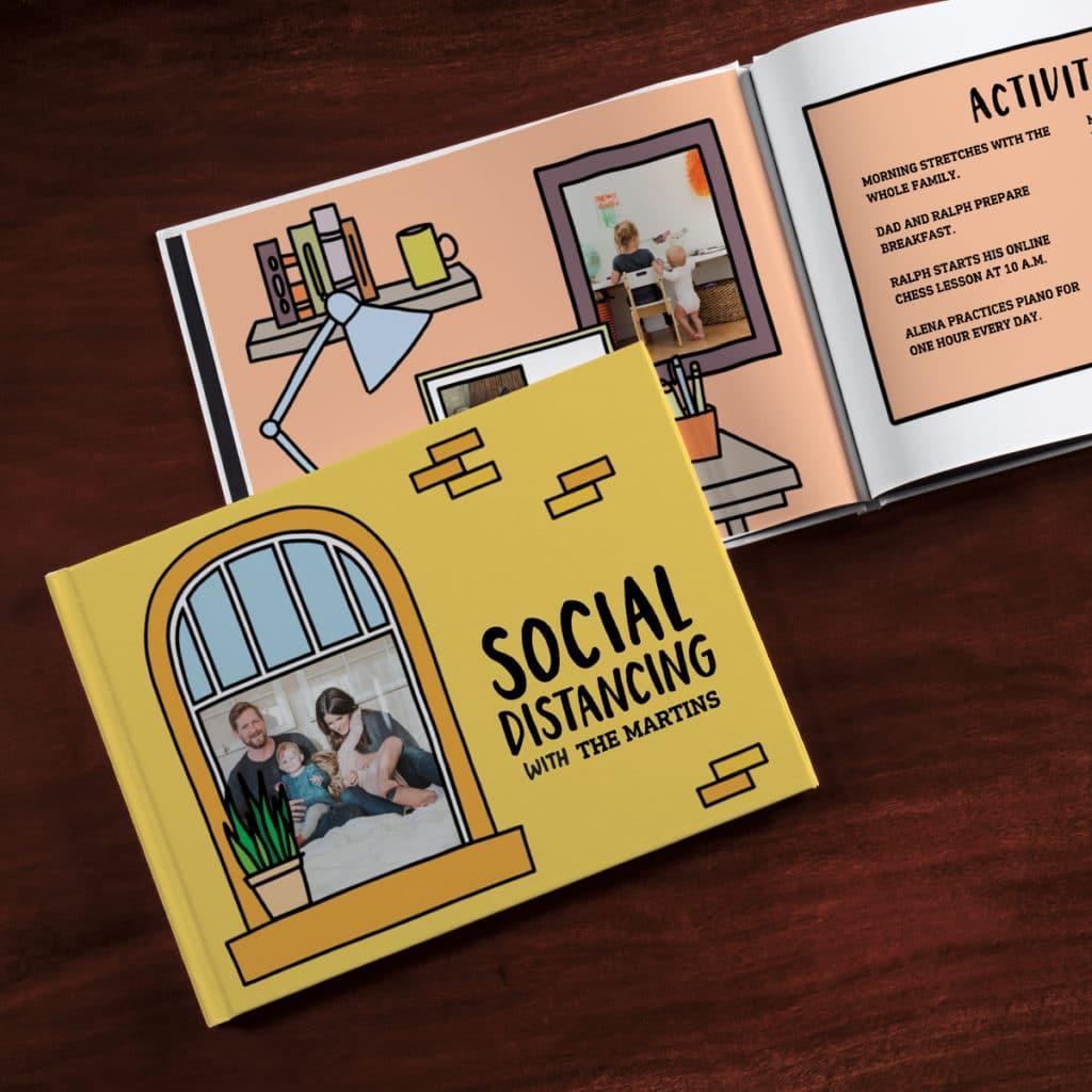 Exclusive Social Distancing Coloring Photo Book
