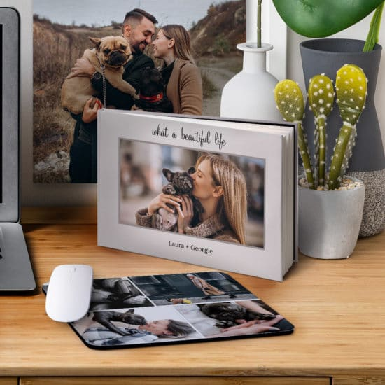 Keep pet memories close when you print personalised pet memory books and canvas prints