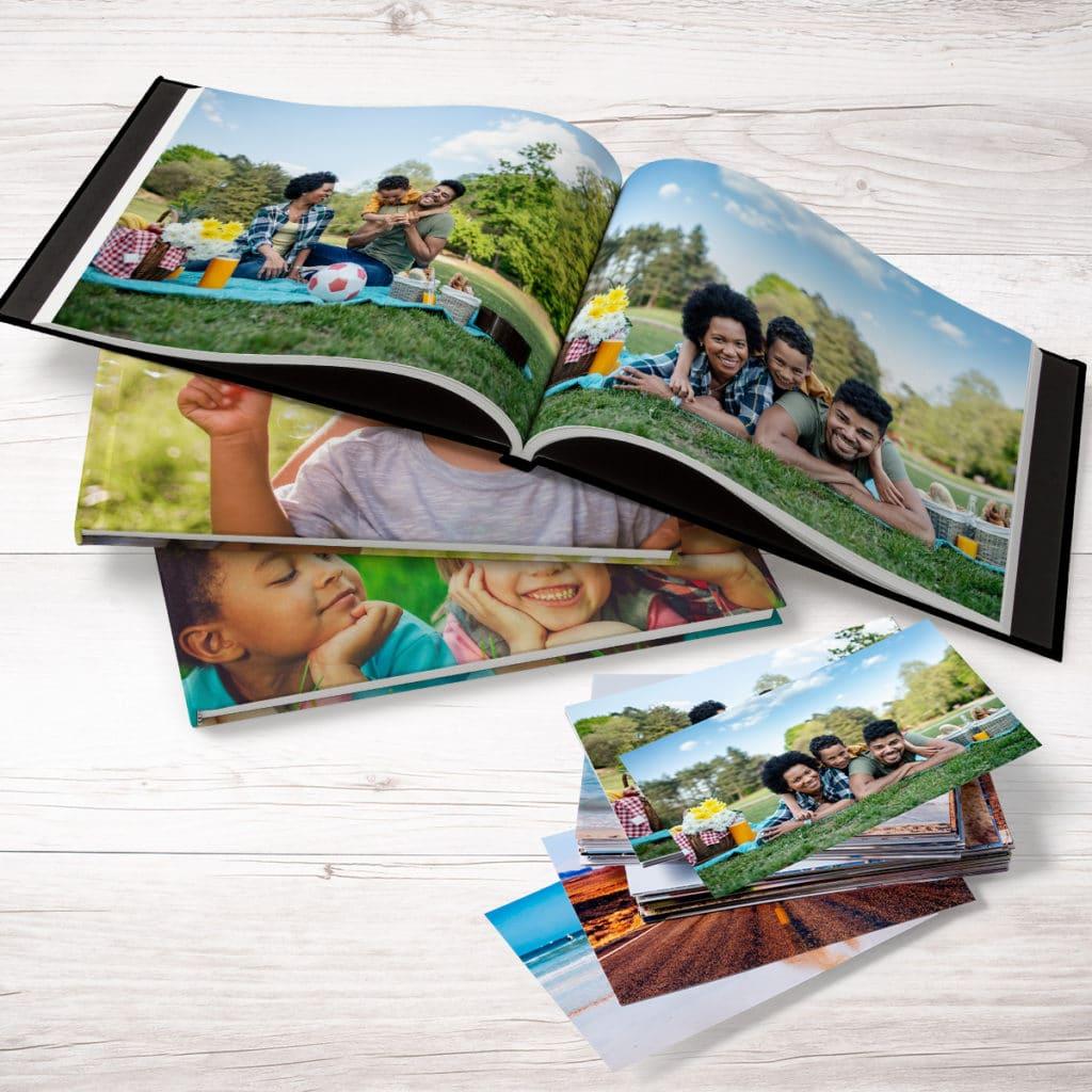Create custom photo books using all your summer photo prints