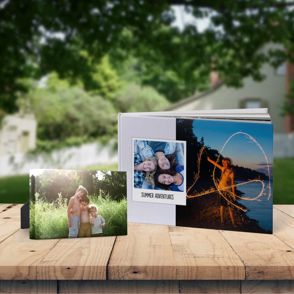Create photo books and canvas prints of happy camping memories