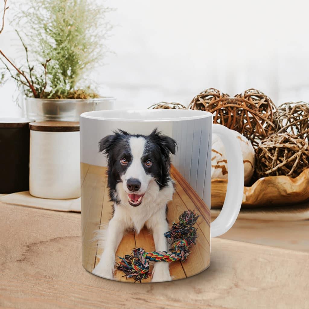 Mug with photo of pet dog