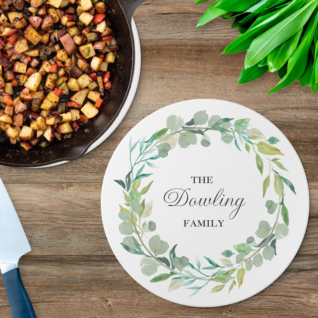 Personalized table protection with photo trivets