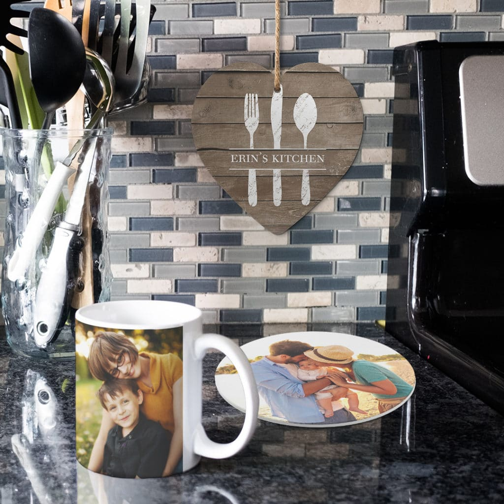 Hang custom trivets on wall or use as personalized table protection from hot pans