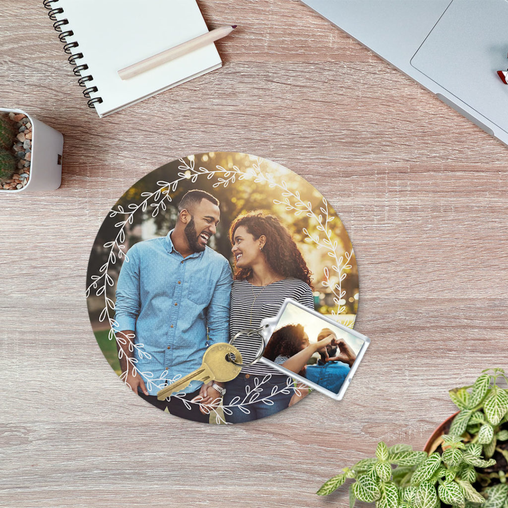 Custom photo trivets for heat + water protection for tables.