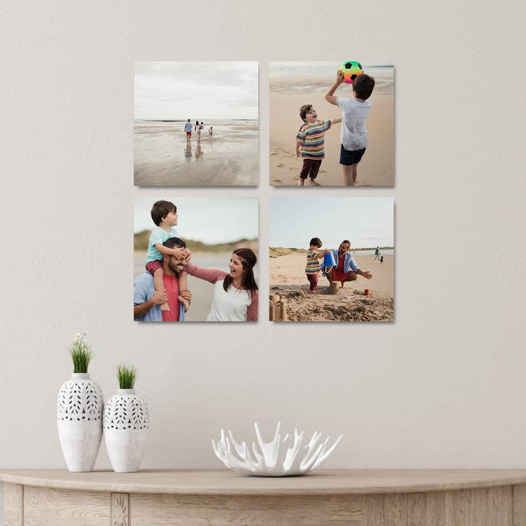 Photo Tiles are perfect for updating walls and you can easily swap them out with each photo update