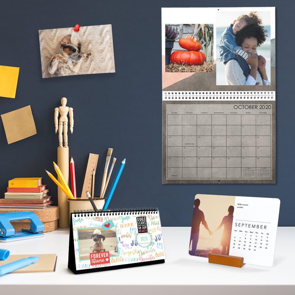 Create custom calendars in minutes. Add photos, choose design and add special date reminders.