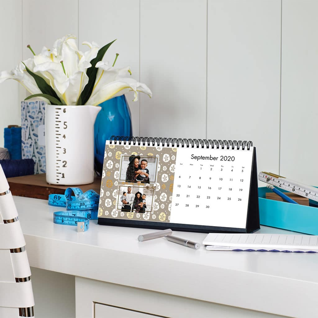 Create desk calendars with photos - start from any month.