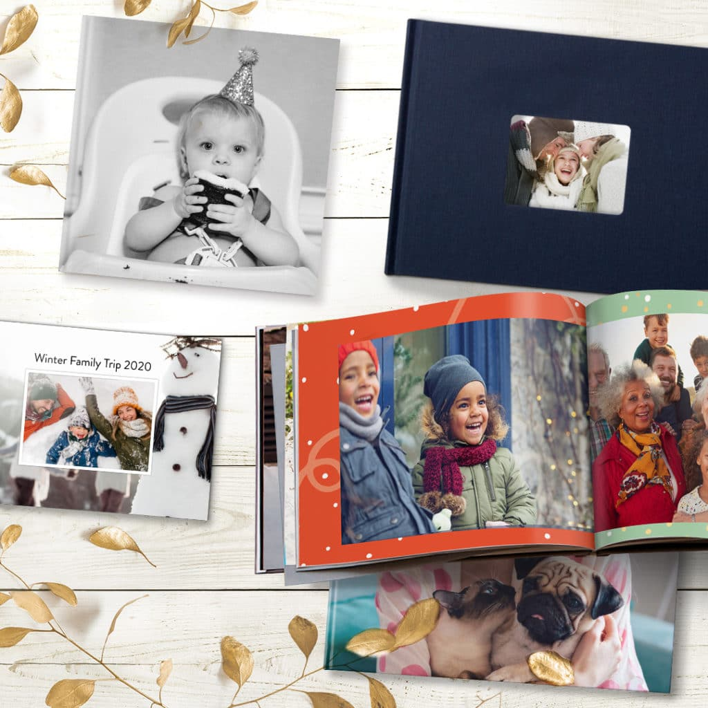 range of different sized photo books