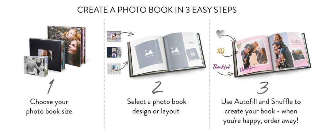 create a photo book in 3 easy steps
