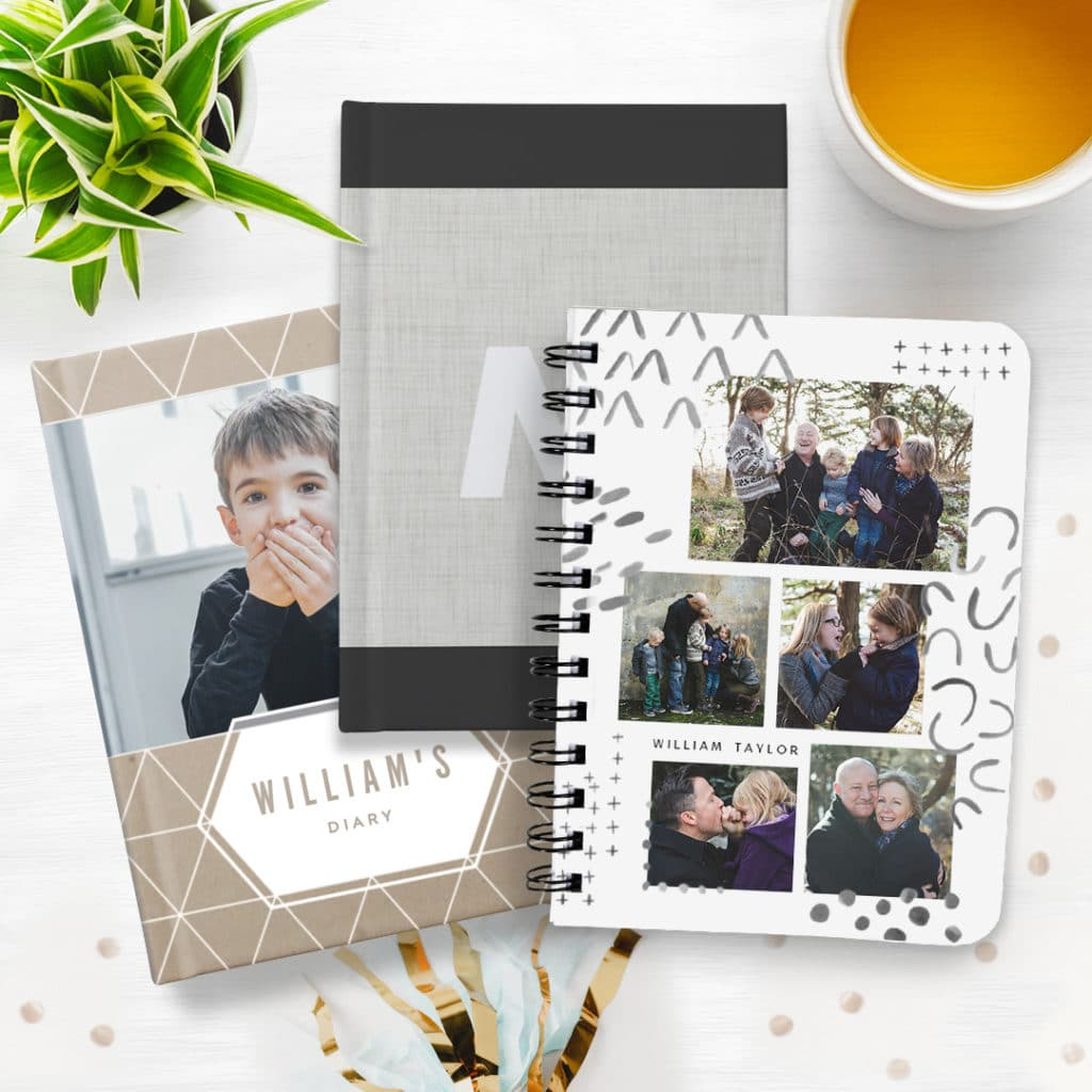 Record New Year Resolutions in photo notebooks + journals