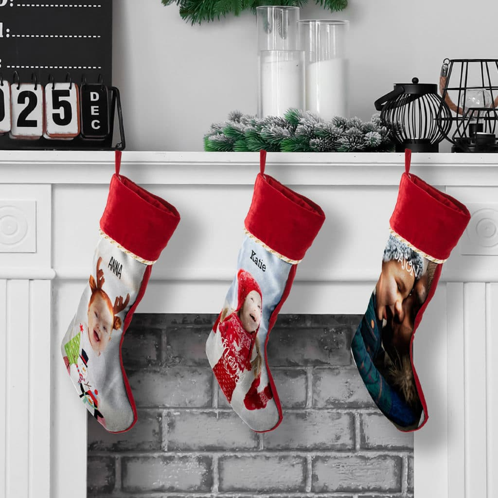 Stop family squabbles with these cool photo Christmas stockings