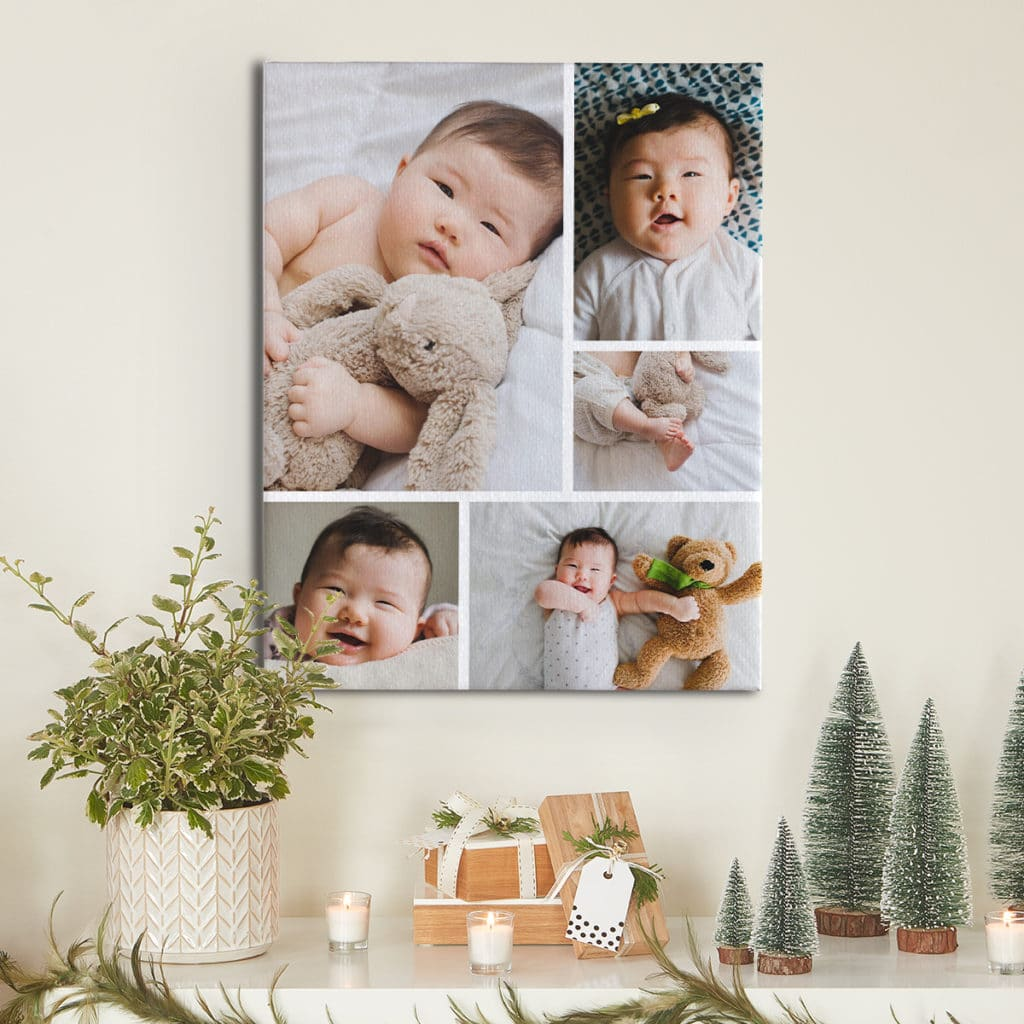 Create collage photo prints of you best baby pictures