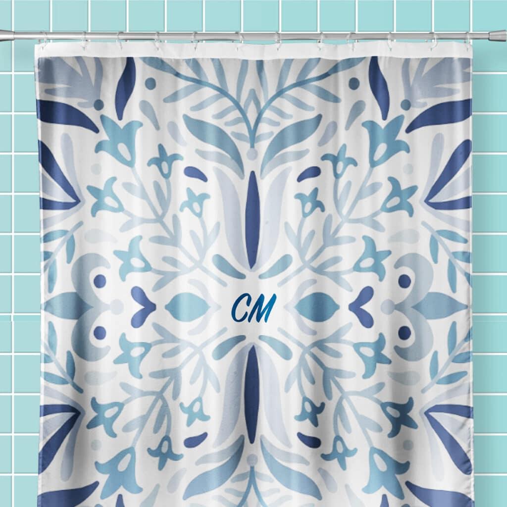 Kaleidoscope design shower curtain
