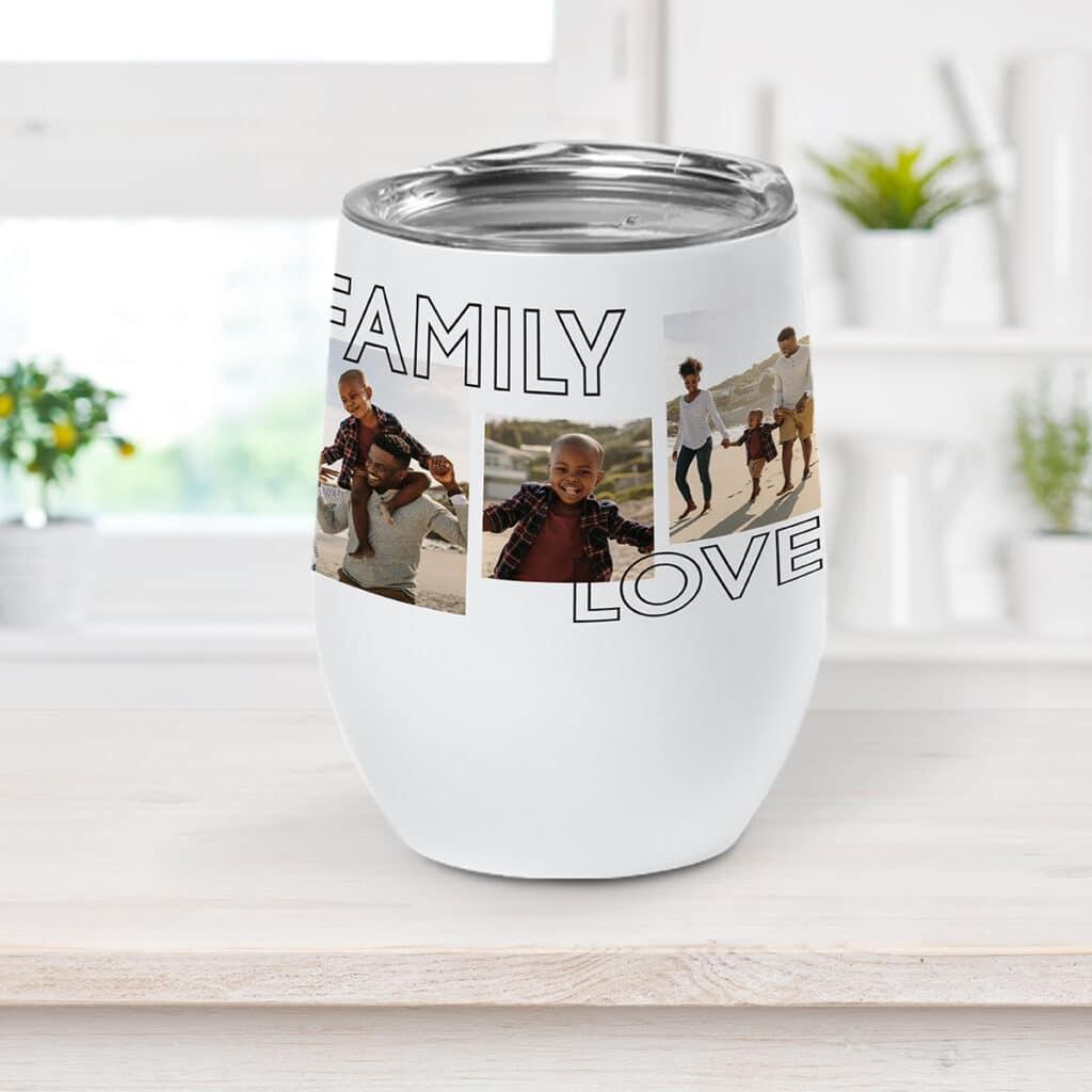 Family Love wine cup design