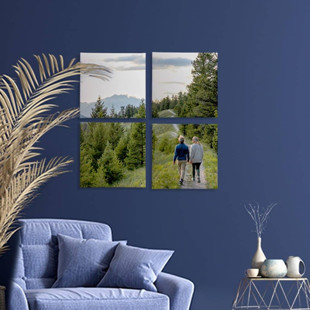 Split canvas set showing a gorgeous mountainscape photo